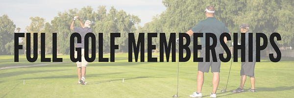 Full Golf Memberships: categories and prices are listed in the table below.