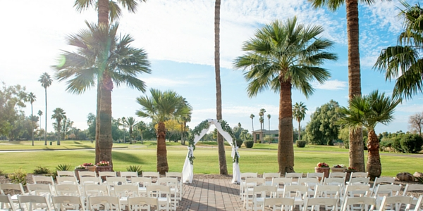 The wedding venue at San Marcos Golf Resort is one the most picturesque site in Chandler, Arizona.